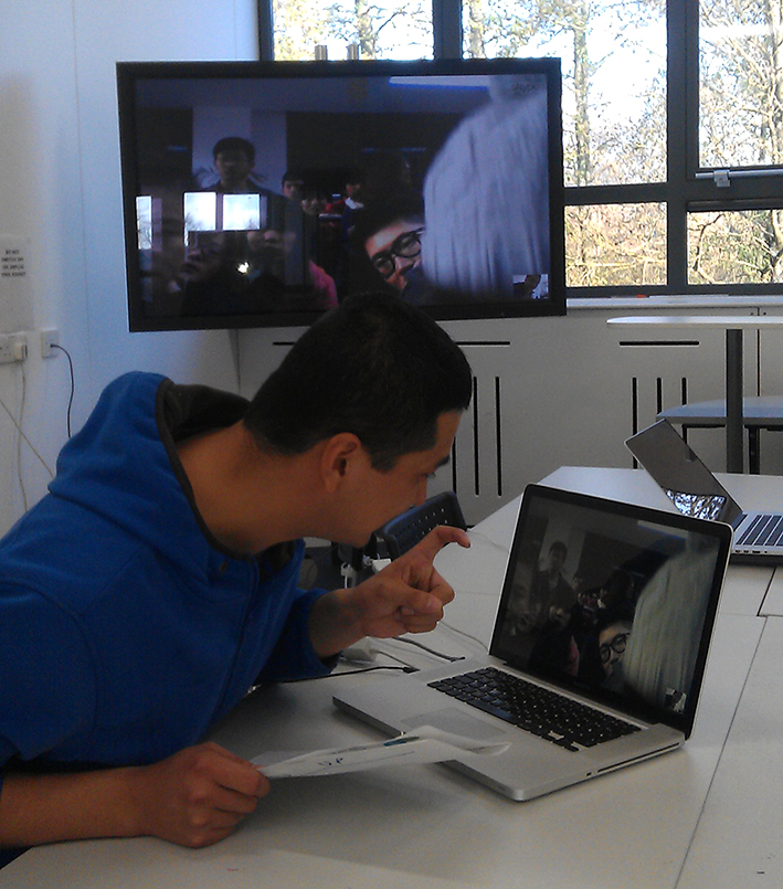 Suzhou students on Skype